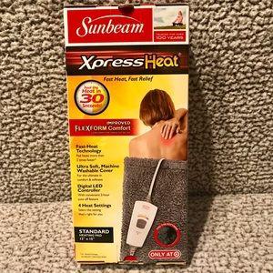 BRAND NEW IN BOX Sunbeam Heating Pad FAST RELIEF